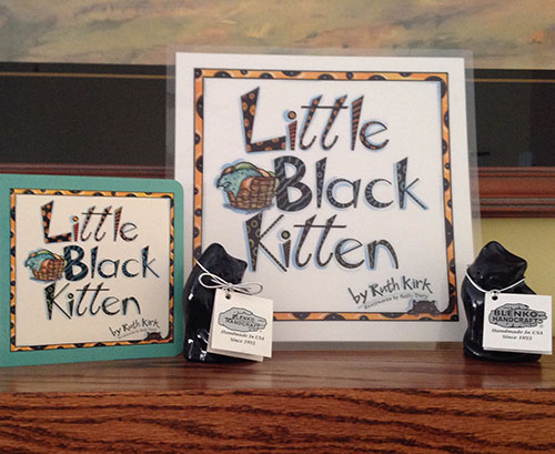 Blenko Glass/Little Black Kitten Collectible Keepsake